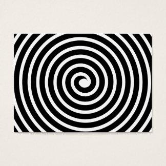 Cartão De Visitas Motivo espiral - preto e branco