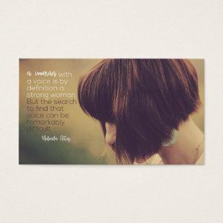 Cartão De Visitas Mulher com uma voz