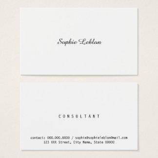 Cartão De Visitas mulher de negócio elegante minimalista