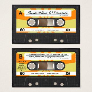 Cartão De Visitas Música alaranjada/amarela DJ da cassete de banda