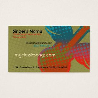 Cartão De Visitas Música retro