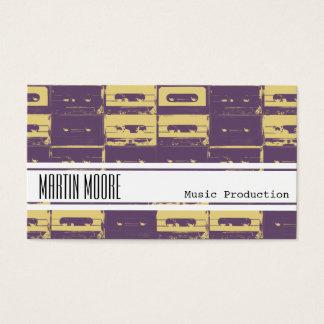 Cartão De Visitas Músico da produção da música e DJ