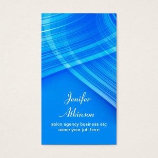 Cartão De Visitas Na moda do azul de turquesa e elegante elegantes