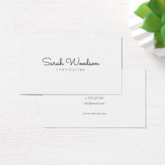 Cartão De Visitas Na moda minimalista