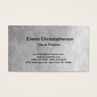 Cartão De Visitas Na moda moderno liso cinzento profissional