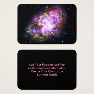 Cartão De Visitas Nebulosa de caranguejo cor-de-rosa