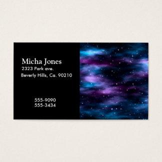 Cartão De Visitas Nebulosa fantástica do espaço da viagem