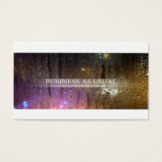 Cartão De Visitas negócio como de costume