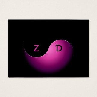 Cartão De Visitas negócio de yang do yin - rosa