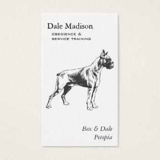 Cartão De Visitas Negócio do cão do pugilista