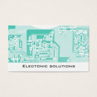 Cartão De Visitas Negócio do conselho de circuito de uma comunicação