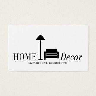 Cartão De Visitas Negócio exterior da loja de móveis do desenhista