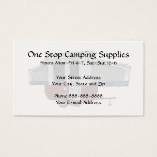 Cartão De Visitas Negócio exterior de acampamento do equipamento das