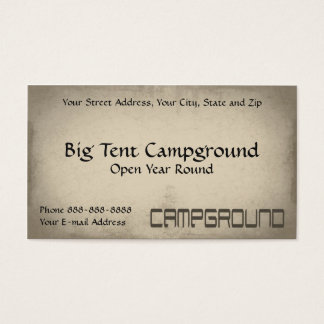 Cartão De Visitas Negócio exterior do equipamento da barraca do