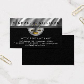 Cartão De Visitas Negócio legal da lei do advogado de prata elegante
