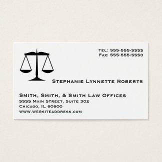 Cartão De Visitas Negócio profissional elegante da lei com listras