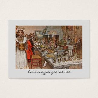 Cartão De Visitas Noite de Natal Julaftonen