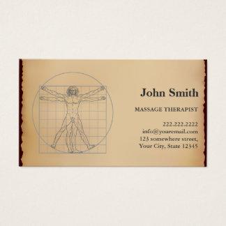 Cartão De Visitas Nomeação do terapeuta da massagem do vintage