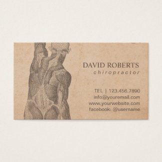 Cartão De Visitas Nomeação do vintage da terapia da massagem do