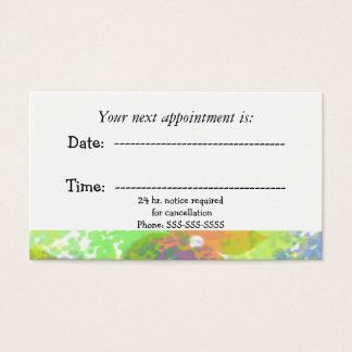 Cartão De Visitas Nomeação médica abstrata