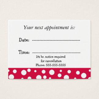 Cartão De Visitas Nomeação médica vermelha e branca