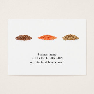 Cartão De Visitas Nutricionista limpo elegante moderno da foto das