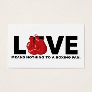Cartão De Visitas O amor não significa nada a um fã de