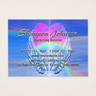 Cartão De Visitas O anjo voa o coração do arco-íris