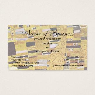 Cartão De Visitas O beijo por Klimt, design do teste padrão do ouro