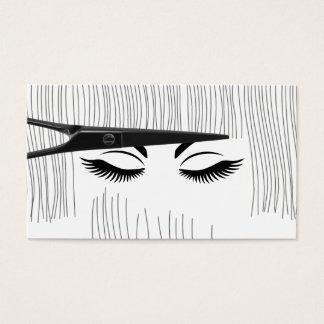 Cartão De Visitas O cabeleireiro Scissor & o cabeleireiro da menina