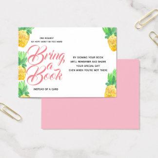 Cartão De Visitas O chá de fraldas cor-de-rosa do abacaxi traz um