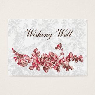 Cartão De Visitas O chique cora casamento floral do vintage