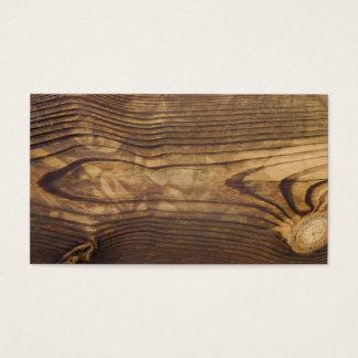 Cartão De Visitas o conselho de madeira escuro