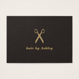 Cartão De Visitas O falso escuro elegante minimalista Scissor o