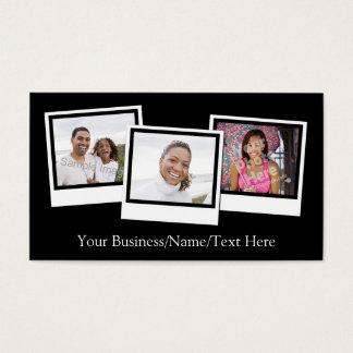 Cartão De Visitas O instantâneo 3-Photo personalizado molda a cor