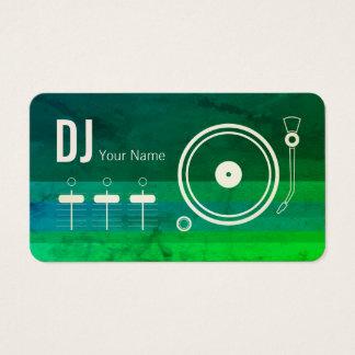 Cartão De Visitas O jogador gravado do DJ do profissional moderno