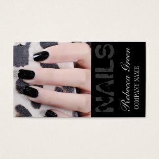 Cartão De Visitas o manicure elegante chique feminino prega o salão