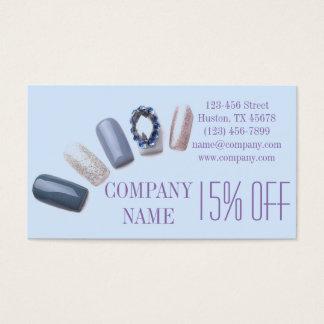 Cartão De Visitas o manicure elegante moderno prega o salão de