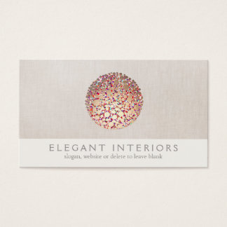 Cartão De Visitas O ouro colorido circunda o designer de interiores