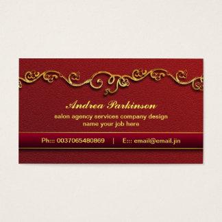Cartão De Visitas O ouro e modernos brilhantes e preeminentes