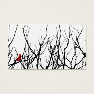 Cartão De Visitas O pássaro vermelho por pimentas de Leslie