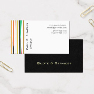 Cartão De Visitas O profissional listra o doutor pediatra Nomeação