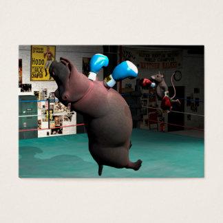 Cartão De Visitas O rato bate o hipopótamo KO
