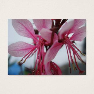 Cartão De Visitas O rosa floresce o cromo de colecção