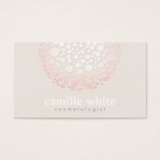 Cartão De Visitas O rosa macio elegante circunda termas e salão de