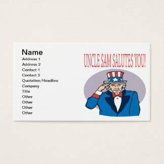 Cartão De Visitas O tio Sam sauda-o