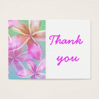 Cartão De Visitas obrigado floral cor-de-rosa você