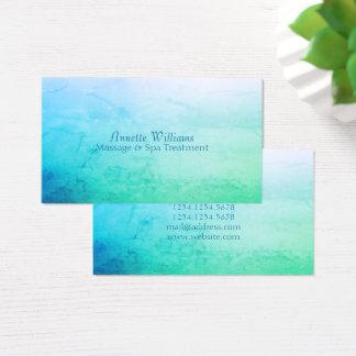 Cartão De Visitas Olhar do falso do mármore da pedra do verde azul
