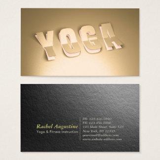 Cartão De Visitas Olhar moderno do texto do corte do papel do ouro
