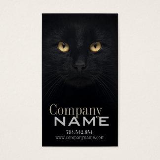 Cartão De Visitas Olhos roxos veterinários do gatinho do gatinho do